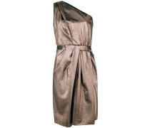 Asymmetrisches Metallic-Kleid