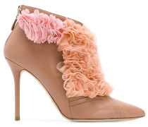 Fluffy frill tulle detail boots