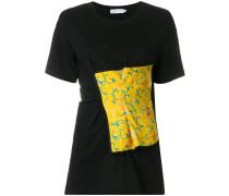 draped appliqué T-shirt