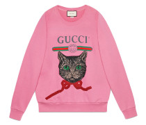 logo sweatshirt with Mystic Cat