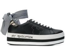 Plateau-Sneakers mit Micky-Maus-Motiv