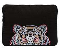 Laptoptasche mit Tigerstickerei