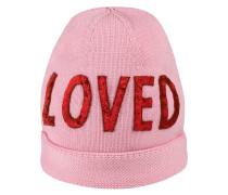 """Mütze mit """"Loved""""-Paillettenstickerei"""