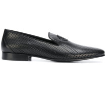 perforated slipper loafers