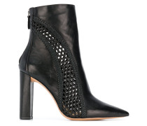 mesh detail ankle boots