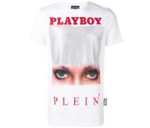 x Playboy T-Shirt mit Kristallen
