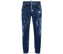 'Boyfriend' Jeans in Distressed-Optik