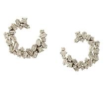 18kt white gold diamond Fireworks spiral earrings