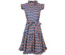 Ausgestelltes Kleid mit Hühner-Print