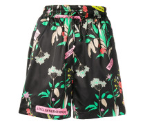 Weite Shorts mit Blumen-Print