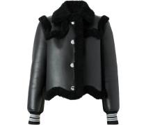 striped cuff shearling jacket