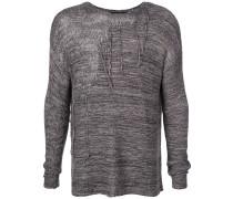 Pullover in Distressed-Optik
