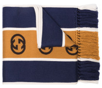 Gestreifter Schal mit GG