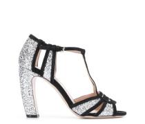Sandalen mit Glitter-Absatz