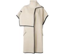 cowl-neck short sleeve coat