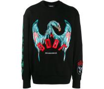 Sweatshirt mit Adlerstickerei