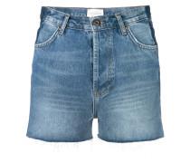Jeans-Shorts mit hohem Bund