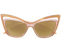 double cat eye frame sunglasses