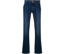 Schmale Jeans mit Kontrastnähten