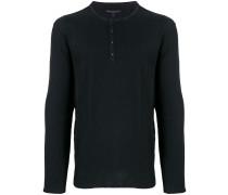 Sweatshirt mit Henley-Kragen