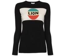 """Intarsienpullover mit """"Lion""""-Aufschrift"""