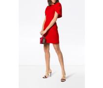 cape silk mini dress