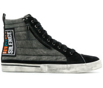 """High-Top-Sneakers mit """"Silence""""-Patch"""