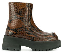 Stiefel in Pythonleder-Optik