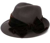 bow-detail fedora hat