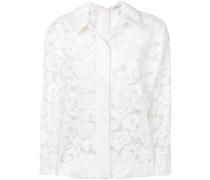 Hemdjacke mit Blumenmuster
