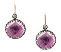 small Olivia Magenta Button earrings
