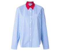 pinstriped formal shirt