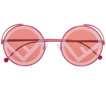 Runde Sonnenbrille mit Logo