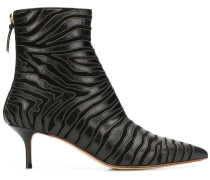 zebra ankle boots