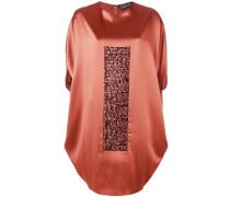 oversized sequin panel dress