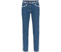 Jeans mit gemalten Nähten