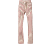 multi-stripe straight leg trousers