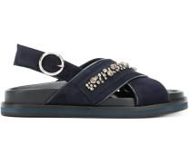 'Diamonte' Sandalen mit überkreuzten Riemen