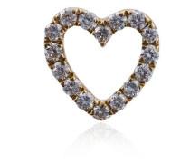 Herz-Anhänger mit Diamanten