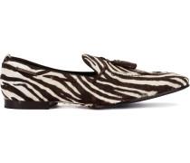 Loafer mit Zebramuster