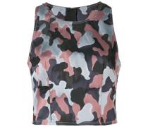 Top mit Camouflage-Print