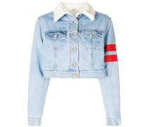 cropped stripe detail jacket