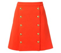 buttoned front mini skirt