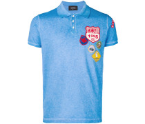 badge embroidered polo shirt