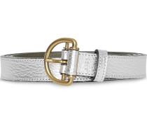 Metallic-Gürtel mit D-Schnalle