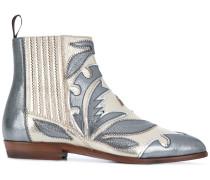 appliqué ankle boots