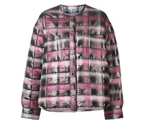 Jacquard padded shirt jacket