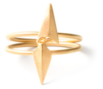 'D'Arling Double' vergoldeter Silberring