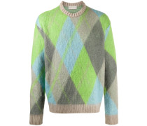 Diamond patterned knit jumper