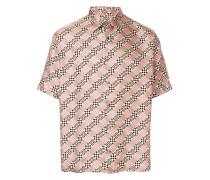 damier print shirt